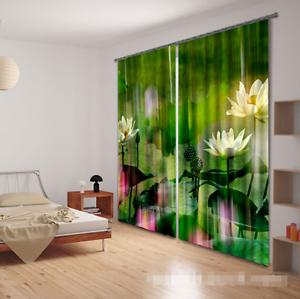 3d blancoo Lotus 758 bloqueo foto cortina cortina de impresión sustancia cortinas de ventana