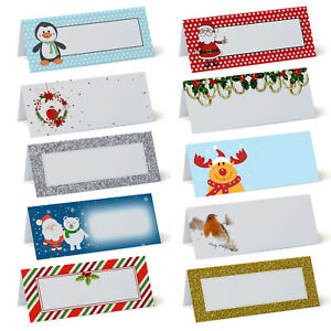 Christmas Place Cards Table Name Cards Plain For Wedding Winter