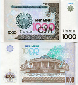 Boy-Uzbekistan-1000-Sum-Banknote-2001-P-82-Cash-FRESH-UNC