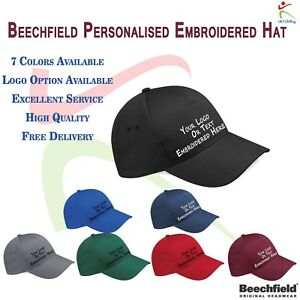 18a7892bc11 Image is loading New-Personalised-Embroidered-Hat-Custom-Any-Text-Logo-