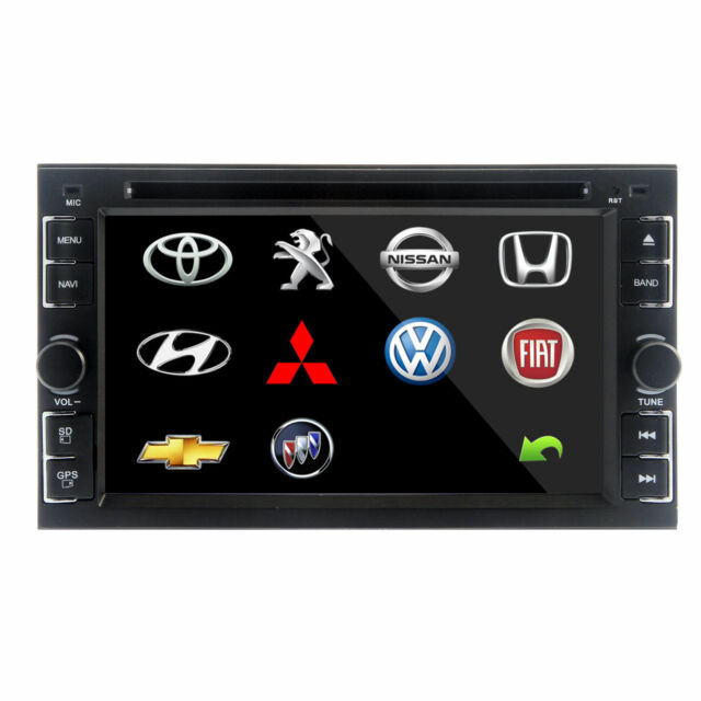 """Double 2Din 6.2"""" In Dash Stereo Car DVD CD Player Bluetooth Radio iPod None GPS"""