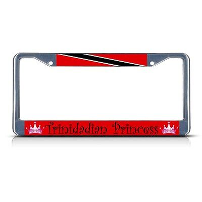 TRINIDAD AND TOBAGO FLAG Heavy Duty Steel RED License Plate Frame Tag Border