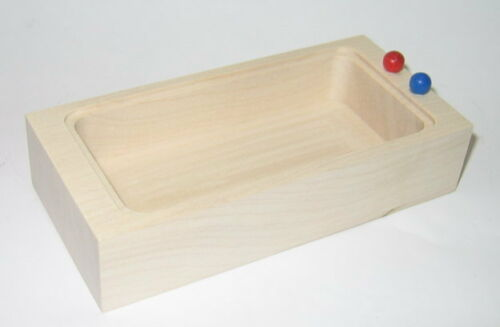 Rülke 22254 Badewanne Rustikal 1:12 für Puppenhaus aus Erzgebirge Holz NEU Puppenstuben & -häuser #