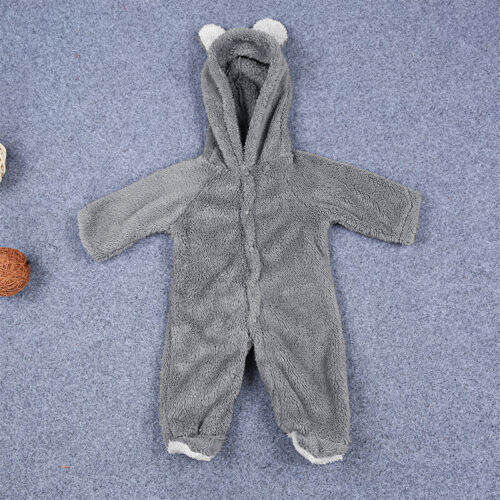 Newborn Baby Boy Girl Hooded Romper Jumpsuit Bodysuit Outfits Clothes 0-24Months