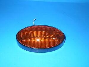 Rv Porch Light 12 Volt Oval Amber Lense Camper Rv Black Exterior Ebay
