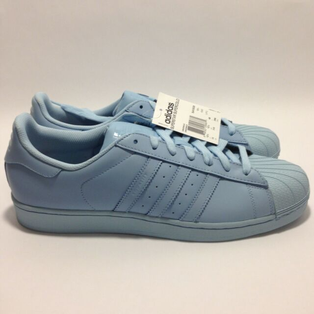 sale retailer 6ab38 dcac9 adidas Superstar X Pharrell Williams Supercolor Blue S41830 Men's Size 13