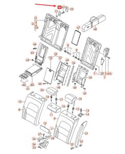 AUDI-A4-B8-Asiento-Infantil-izquierda-trasera-soporte-de-fijacion-8K9887269-Nuevo-Original