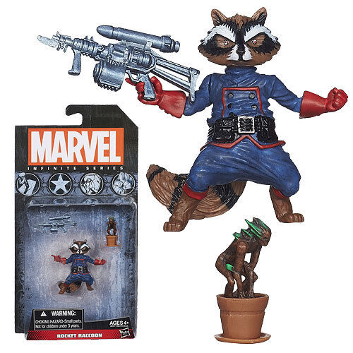 "Hasbro Marvel Infinite Series Rocket Raccoon 3.75/"" Action Figure Sealed"