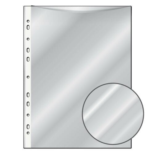 DIN A4 glasklar 10 Prospekthüllen extra Starke 120my