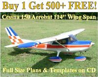 Cessna 150 Aerobat 114 Giant Scale Rc Airplane Plans & Templates On Cd