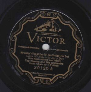 Ted-Weems-Or-78-rpm-Victor-20120-My-Cutey-039-s-Due-at-Two-to-Two-To-Day-I-039-m-Goin