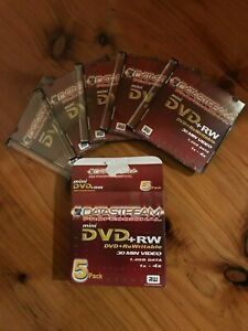 Details about Mini DVD RW 1 4gb 20 x 5 pack - Datastream Professional -  Bulk price ex Melb