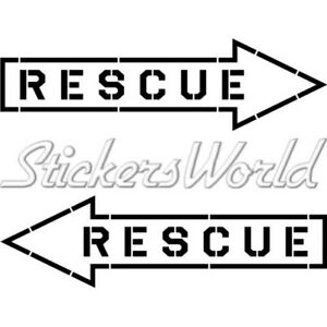 RESCUE-Aviation-Arrow-RAF-USAF-NATO-180mm-Sticker-Decal-CHOICE-OF-COLORS