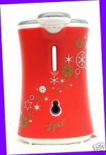 1 Lysol No-Touch Hand Soap Dispenser COVER Red Snowflake Decor Design NO UNIT