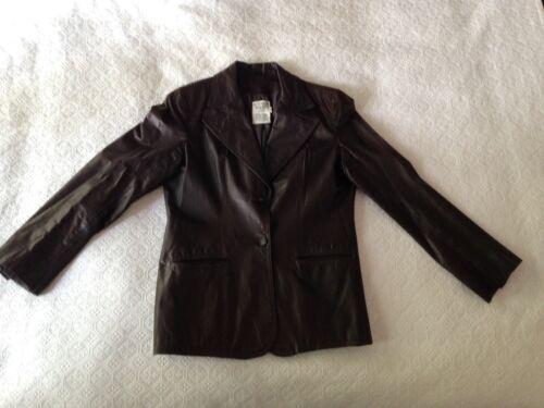 1970S Vintage Women's Dark Brown Leather Blazer J… - image 1