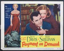 PAYMENT ON DEMAND BETTE DAVIS BARRY SULLIVAN 1951 LC 2