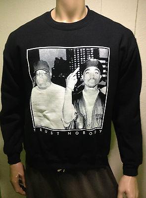 """Tupac Shakur 2pac/Notorious B.I.G. """"Trust Nobody"""" Sweatshirt/Crewneck/Sweater"""