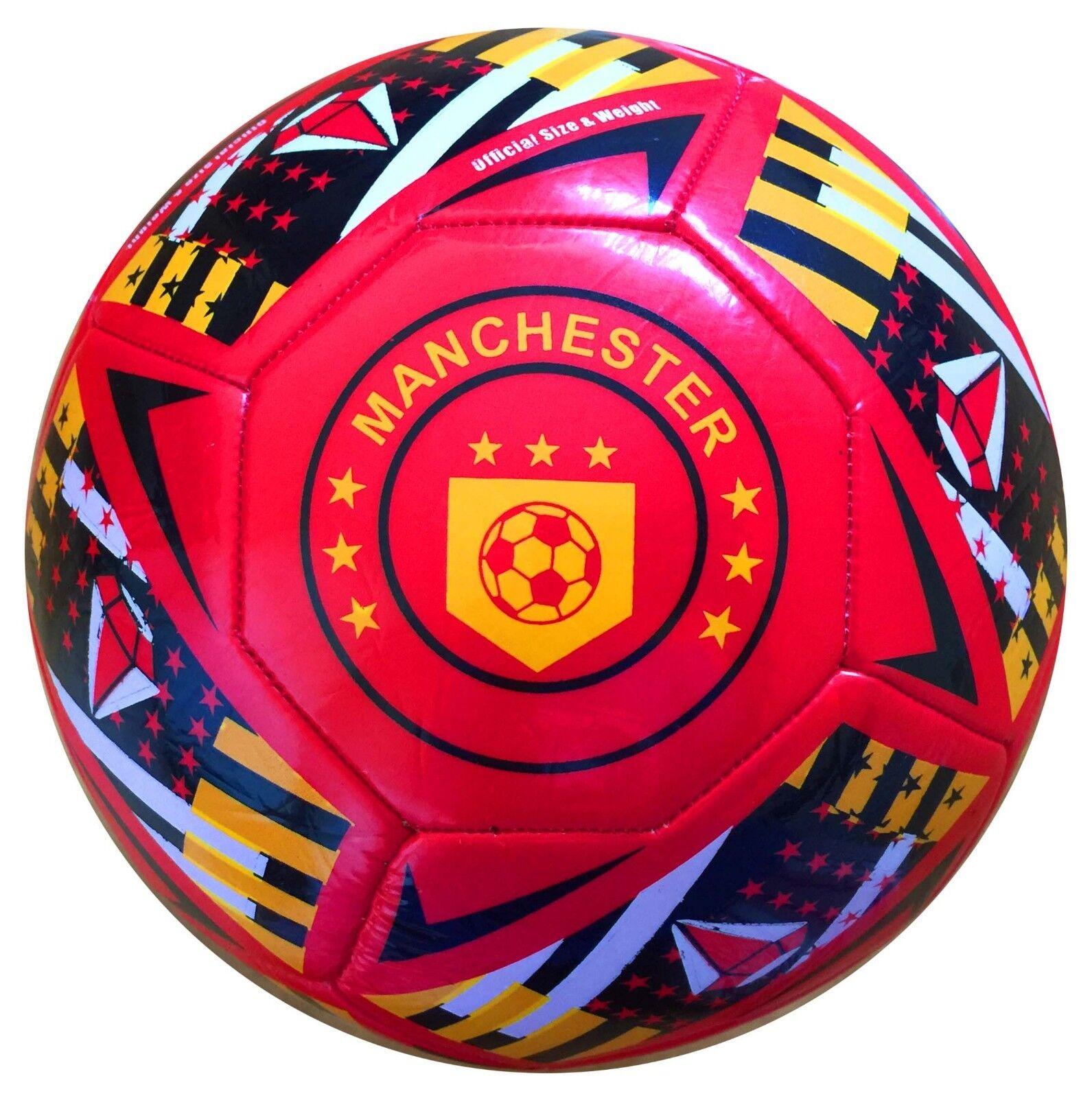 Lote de 12 pelotas de fútbol famoso Manchester Tapa Roja