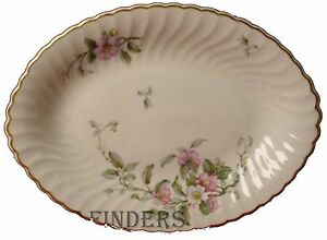 Syracuse China Apple Blossom Pattern Small Oval Serving Platter 11