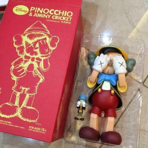 KAWS Pepito Grillo Pinocho & Edición Limitada 2010 Medicom Figura De Juguete