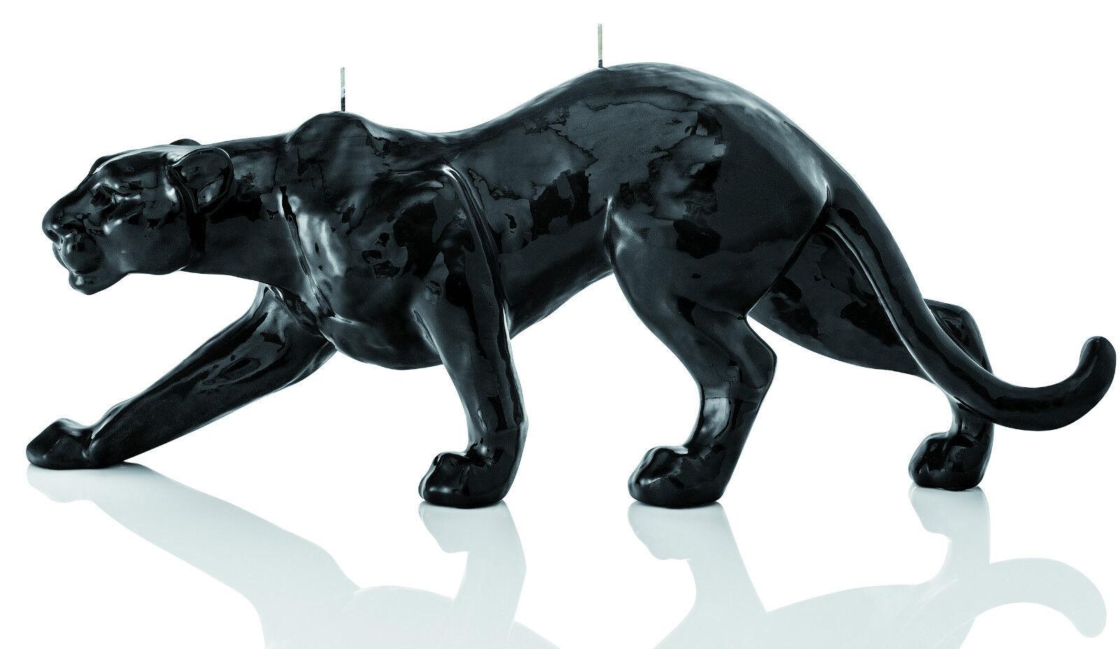 Luxus Design Kerze Panther 44cm Länge Schwarz Handarbeit Kerzen Wiedemann Neu