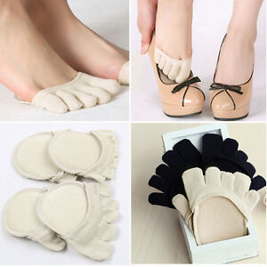NEW-Cotton-Half-Insoles-Pads-Cushion-Metatarsal-Sore-Forefoot-Metatarsal-Support