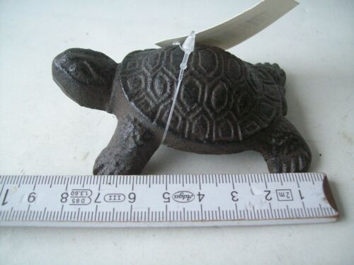 1 kleine Schildkröte 9 cm Gusseisen Deko Garten Kröte Figur Turtle