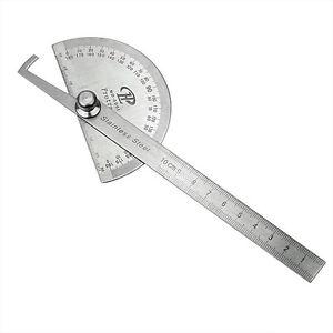 Edelstahl-Winkellineal-180-Winkelmesser-Messwerkzeug-Gradmesser-Schmiege-Li-J6S0