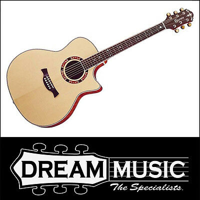Crafter Gae 21/n Natural Gloss Grand Auditorium Cutaway Acoustic Guitar Rrp$1199 Famous For High Quality Raw Materials And Great Variety Of Designs And Colors Full Range Of Specifications And Sizes
