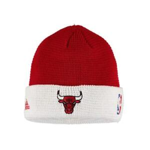 82d123b6953 Image is loading adidas-NBA-Chicago-Bulls-Team-Cuffed-Knit-Beanie