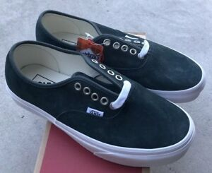 1e7a232aa16 Image is loading Vans-Authentic-Pig-Suede-Darkest-Spruce-Green-Sz-
