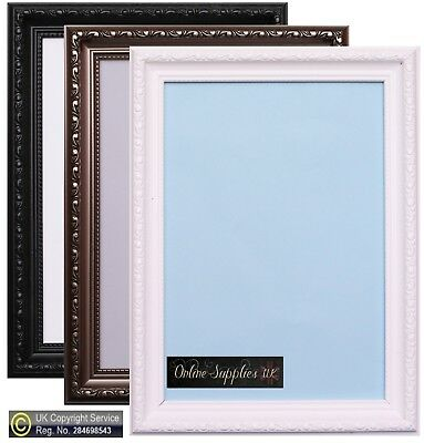 Shabby Chic Photo frame Picture Poster frames Gunmetal Natural A1 A2 A3 A4