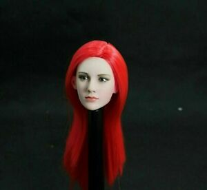 1-6-Scale-Female-Red-Long-Hair-Head-Carving-Fit-12-034-PH-TBL-Figure-Body