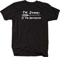 Tshirt -the Journey Is The Destination Arrow Travel Adventure Quote