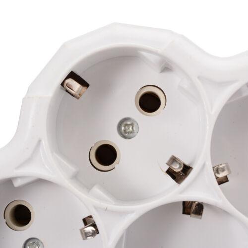 4 Way Dreifachstecker Mehrfachstecker Steckdosenverteiler Adapter 110-250v 16A