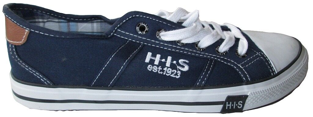 Navy H. I. S. His Shine Casual shoes Canvas shoes Punk Jeans Baskets 41 42 44