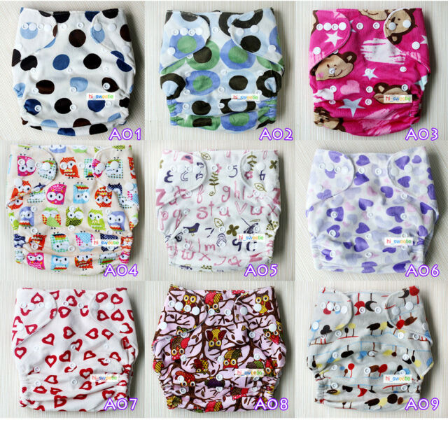 Baby One Size Cloth Diaper Lot Reusable Pocket Nappy Newborn,Reusable,Hip Snap