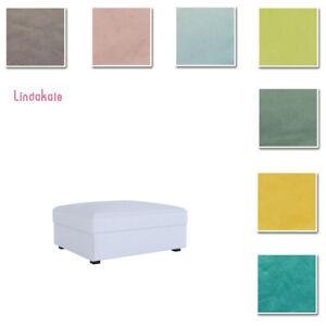 Custom-Made-Cover-Fits-IKEA-Kivik-Footstool-Ottoman-Cover-Velvet-Fabric