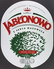 Poland Brewery Jabłonowo Jasne Beer Label Bieretikett Etiqueta Cerveza ja1.1