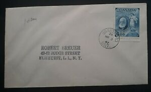 1947 Canada Birth Centenary of Alexander Graham Bell FDC ties 4c stamp