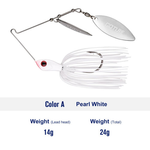 1PC Spinnerbait Fishing Lure Hard Bait Lead Head Freshwater Fishing Tackle Bass