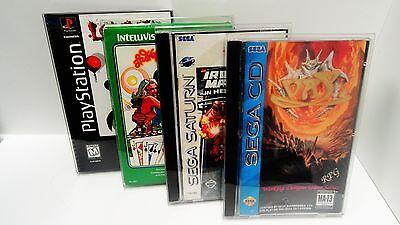 3 Box Protectors For SEGA CD / SATURN / PS1 LONGBOX Video Games   Custom Cases