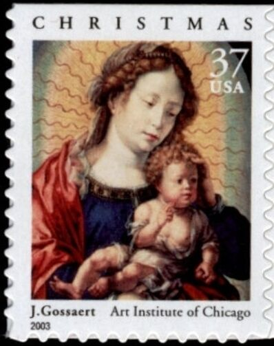 2003 37c Madonna & Child, J. Gossaert Scott 3820 Mint F