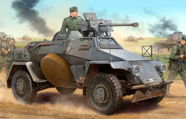 Hobbyboss German Le.pz.sp.wg (Sd.Kfz.221) Panzerwaggen 1:3 5 Model Kit