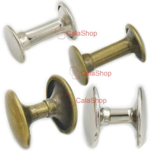 "Double Round Cap Rivet Stud Leather 6mm 8mm 10mm 12mm 15mm 1//4/"" 3//10/"" 3//8/"" 1//2/"""