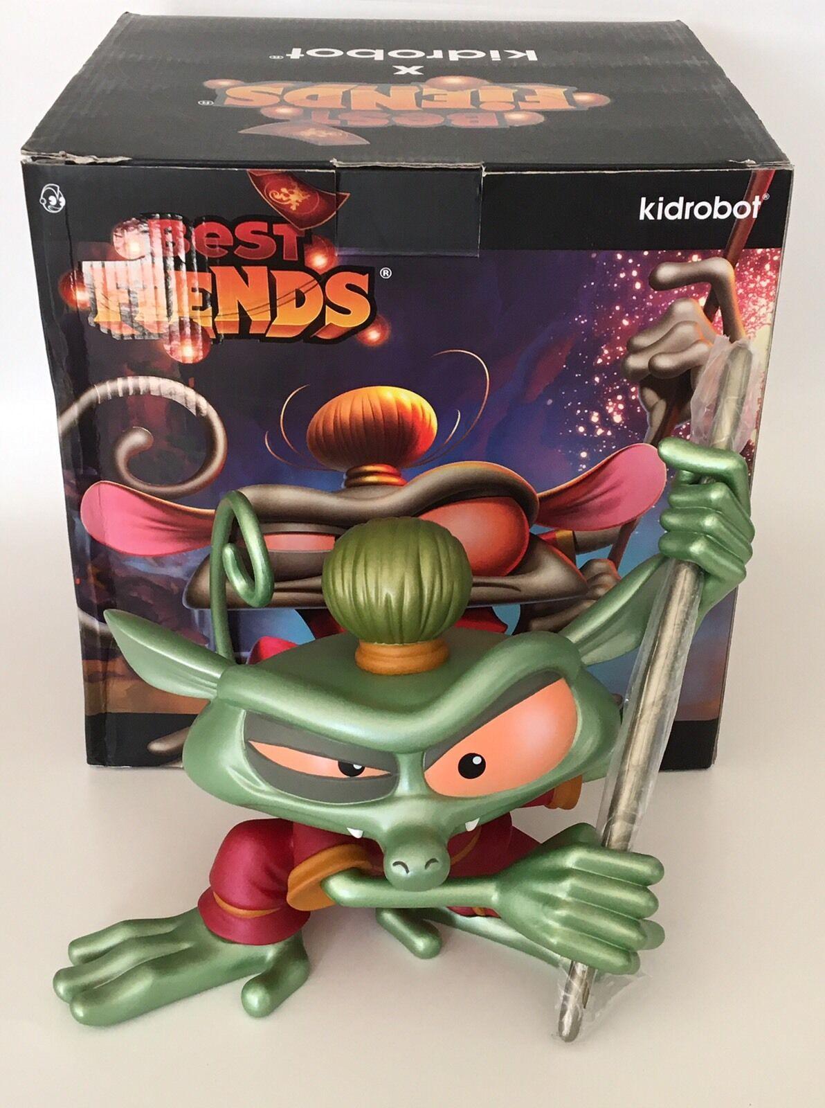 Kidrobot Best Fiends CNY Metallic Grün - Wu The Tarsier Figure w  Box - Rare