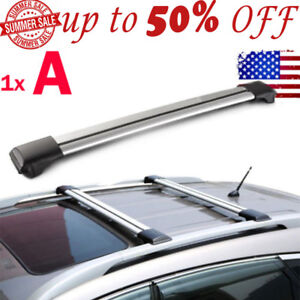 Kayak Roof Rack For Cars Without Rails >> Details About 1pc Universal Top Rail Raised Cross Bar Roof Rack Kayak Luggage Carrier Lock