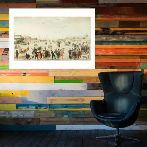 HENDRICK AVERCAMP-Scène D/'hiver Sur frozen canal Wall art POSTER print