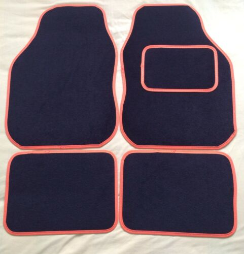 CAR FLOOR MATS FOR KIA CEE/'D RIO PICANTO SPORTAGE OPTIMA BLACK WITH ORANGE TRIM