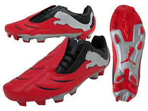 Mens Puma Powercat 3.10 FG Red Football Boots Soccer Firm Ground ... c35437a4d